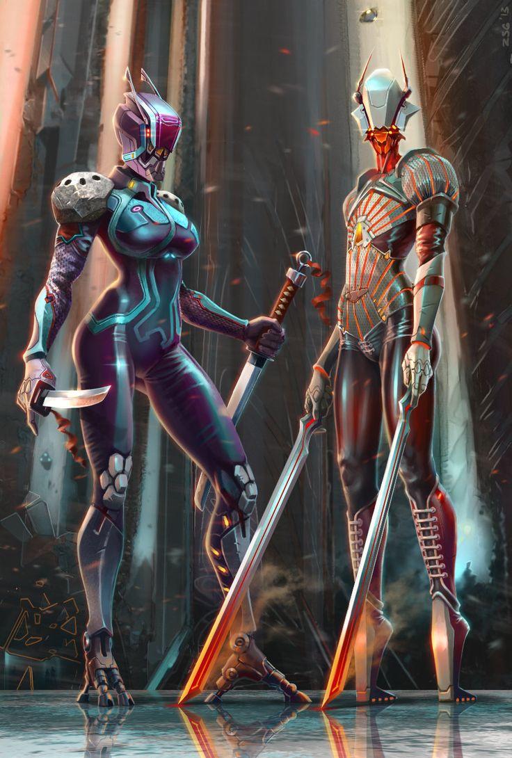 cyborg-girls, Zahar Shinkarenko on ArtStation at https://www.artstation.com/artwork/cyborg-girls