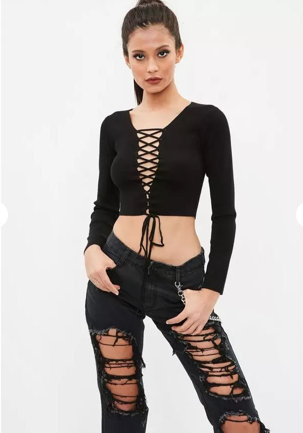 Stevie Nicks inspired black lace-up front top from Missguided. Click through to see my Stevie Nicks: Get the Look post on The Pop Cult.