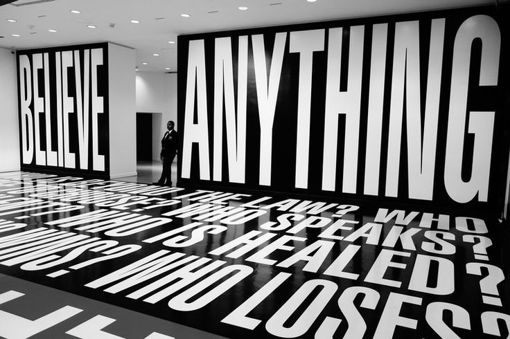 Explainer: what is postmodernism? Believe Anything Barbara Kruger http://theconversation.com/explainer-what-is-postmodernism-20791