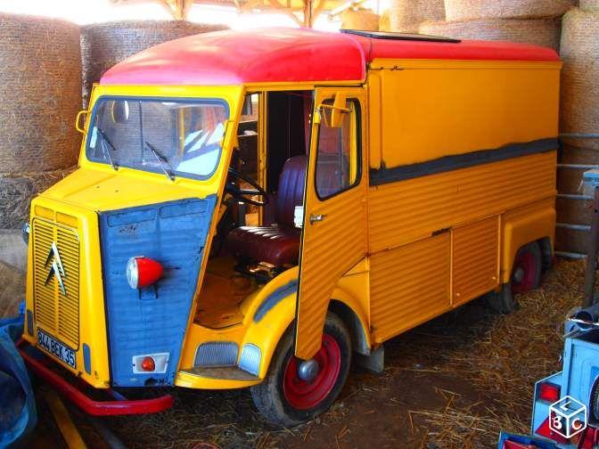 citroen tube hy peint aux couleurs ricard voitures peintes aux couleurs des flottes d. Black Bedroom Furniture Sets. Home Design Ideas