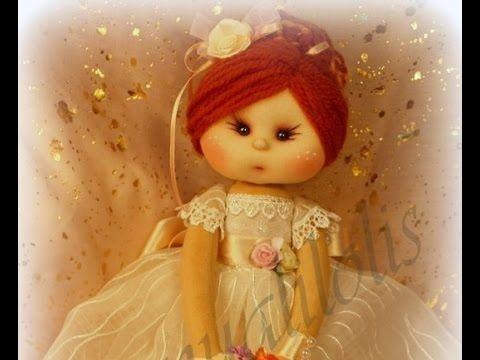 muñeca de comunion final 5/5, manualilolis video-75 - YouTube