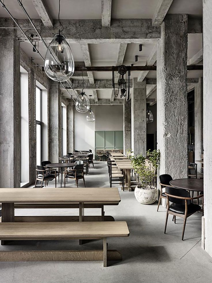 Restaurant 108 Bij Noma Chef Rene Redzepi Located In Copenhagen Interior Design By Space Raw Yet Very Warm And Inviting