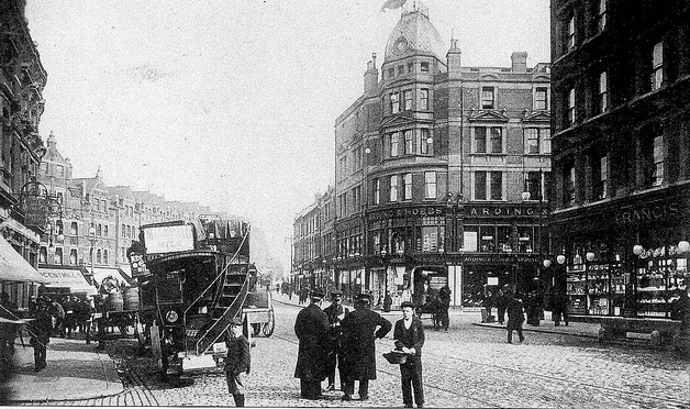 1908: Arding & Hobbs, near Clapham Junction, London. It was at one point the largest department store south of the Thames. Nowadaus it's a branch of Debenhams.