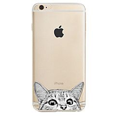 For Apple iPhone7 7 Plus 6S 6 Plus SE 5S Case Cover Cat Pattern High Penetration Painted TPU Material Phone Case – NZD $ 5.86