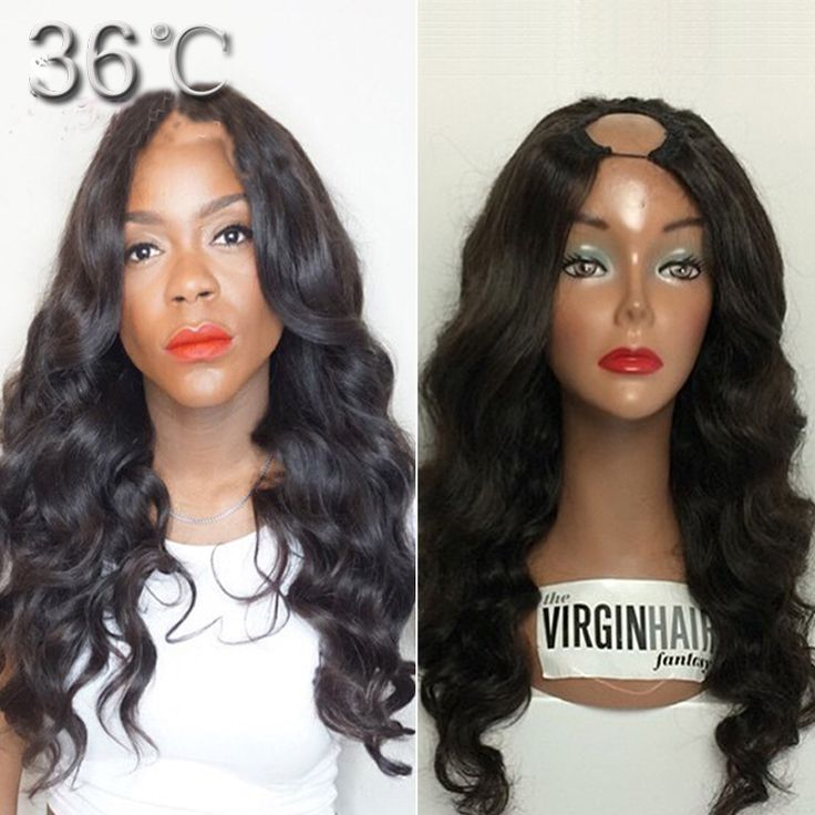 Hot Sale U Part Wigs Peruvian Virgin U Part Human Hair Lace Wig With Right Side Part Wavy Upart Wigs In Stock For African Women