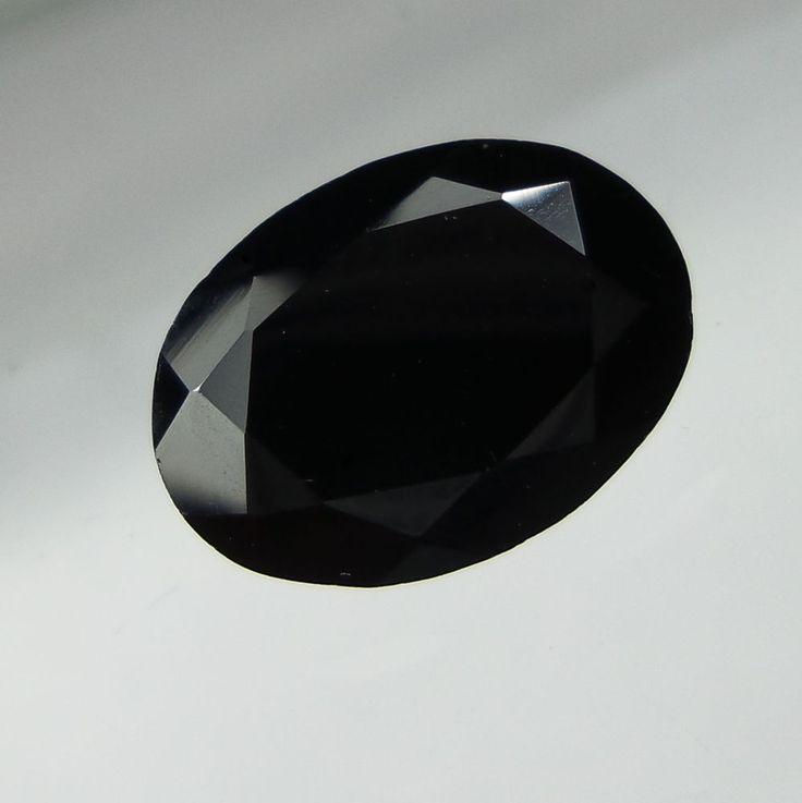 7.5 Carat Faceted Natural Black Spinel Oval Shape 9.9x13.8x7 MM Loose Gemstone #Unbranded
