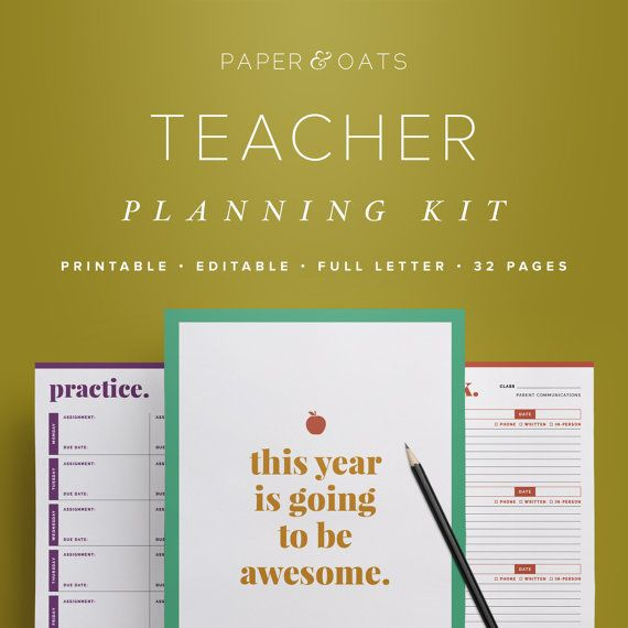 Profesor de planificación Kit – Editable, planificador de aula, carpeta del profesor, organización del aula, 32 páginas / / hogar PDF imprimibles