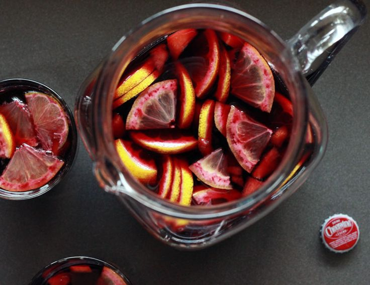 Get the cocktail recipe for Alton Brown's Cheerwine Sangria, inspired by a meal on the road at Mateo in Durham, N.C.