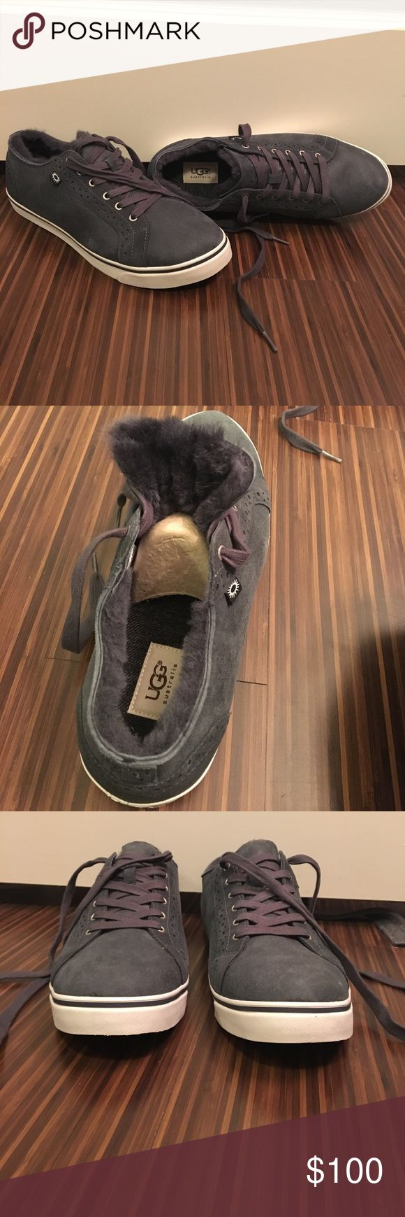 NEVER WORN MENS UGG SNEAKERS never worn, blue grey color (NOT purple), ugg fur lining UGG Shoes Sneakers