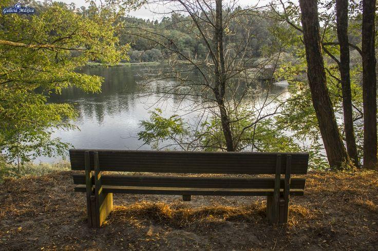 Paseo que discurre por el margen del Miño desde el Parque de A Canuda hasta la desembocadura del río Tea, en Fillaboa. Salvaterra de Miño  ...