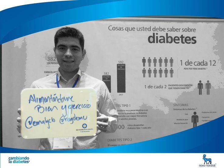 Edgar Muñoz está #Cambiandoladiabetes con buena alimentación y ejercicio ¿Y tú, cómo estás #cambiandoladiabetes?