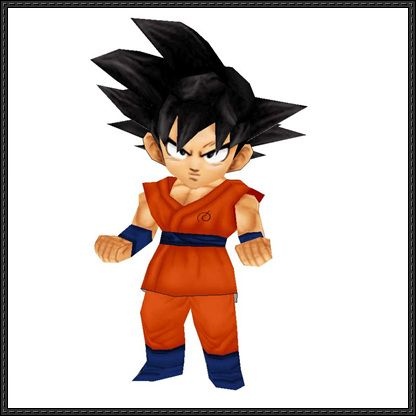 Dragon Ball Z: Fukkatsu no F - Chibi Goku Free Papercraft Download - http://www.papercraftsquare.com/dragon-ball-z-fukkatsu-no-f-chibi-goku-free-papercraft-download.html