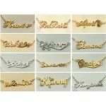 Regalos personalizados collar grabado de nombre plata para mujer