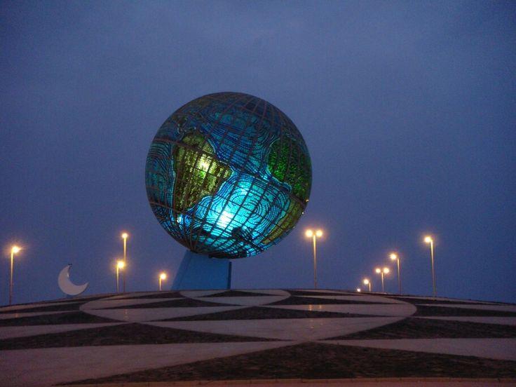 The mosaic globe in Jeddah, Saudi Arabia.