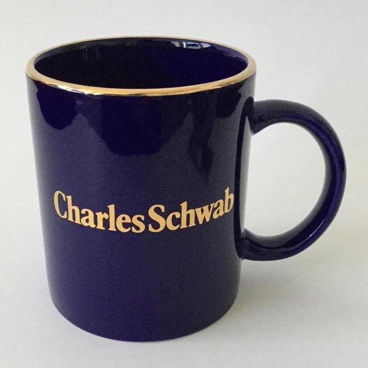 Charles Schwab Cobalt Blue Coffee Mug Cup