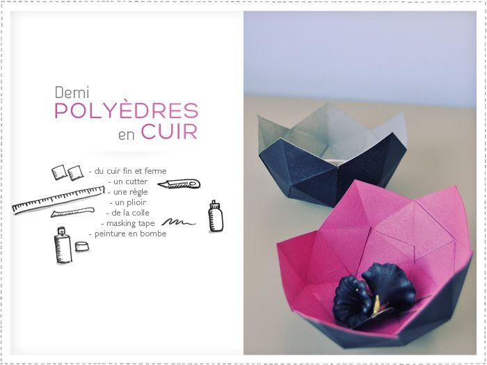 Polyèdre - DIY pas en cuir mais en carton