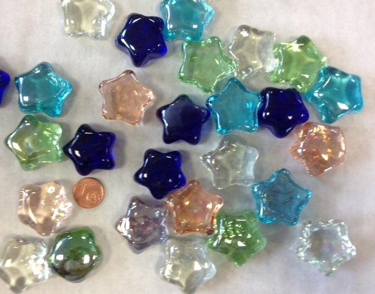 bille forme en verre - vente de étoile transparente , verre de couleur pour mosaique