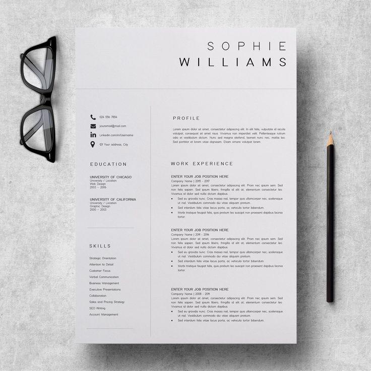 Nowy szablon CV   Wznów szablon minimalistyczny   Profesjonalny projekt CV   Wznów szablon Instant Download Word   CV asystenta wykonawczego