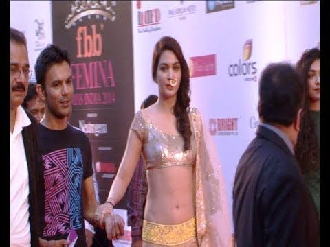 Ankita Shorey @ Red Carpet of Femina Miss India 2014.