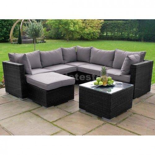 $1,874 (was $2,199) Rattan Kawaka Corner Set Grey - Furniture Sets - Outdoor Furniture @ Trade Tested - Bargain Bro
