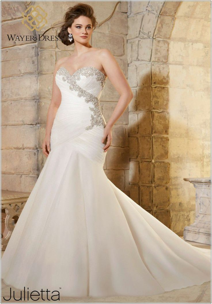 Plus Size Wedding Dresses Designer Plus Size Wedding Dresses Mermaid Style Rhinestone Crystal Beaded Lace Up Wedding Gowns Vestido De - Dress Inspiration for Women