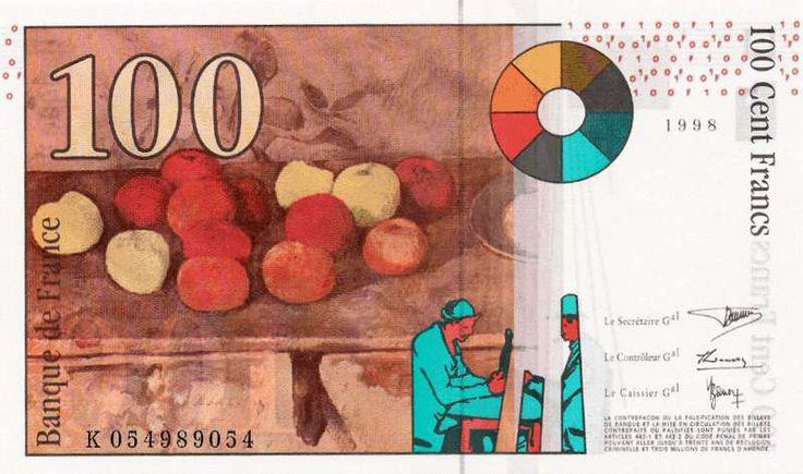 Collection Billet Banque de France - F.74 - 100 francs Cézanne