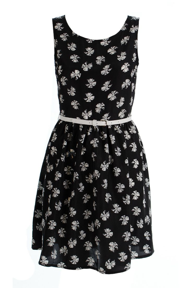 Jazmine Bow Print Skater Dress http://www.fuchia.co.uk/products/clothing/dresses/jazmine-bow-print-skater-dress.aspx