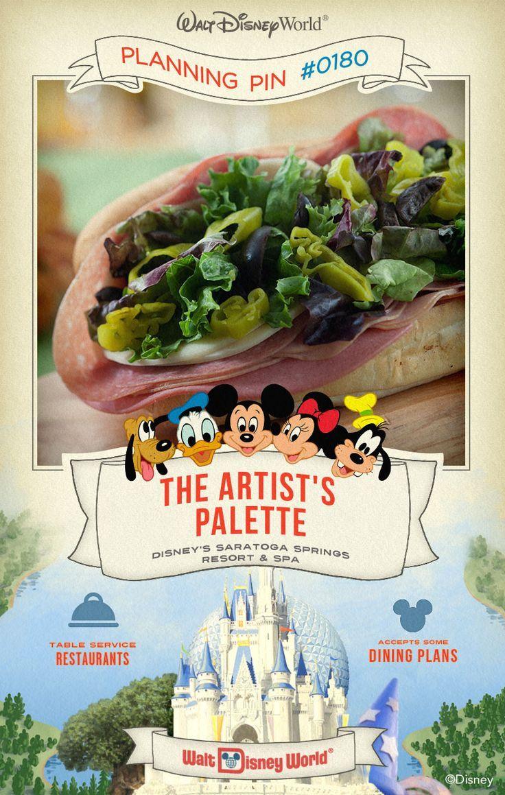 Walt Disney World Planning Pins The Artist's Palette