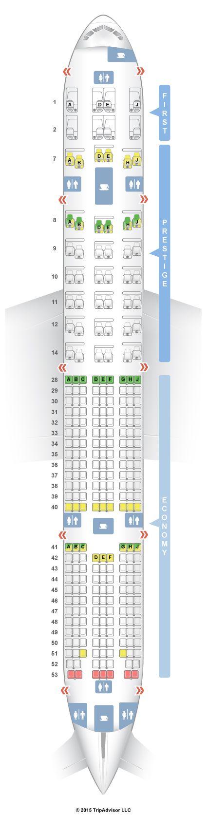 SeatGuru Seat Map Korean Air Boeing 777-300ER (77W) V1