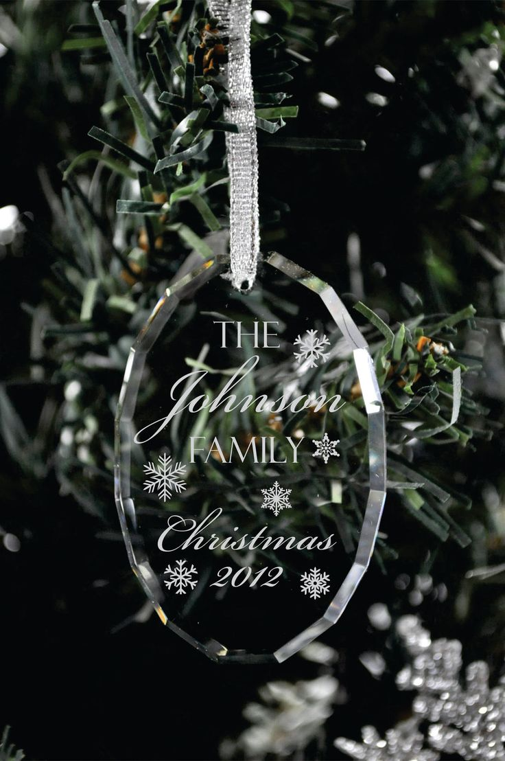 Engraved glass ornaments - Personalized Christmas Ornament Laser Engraved