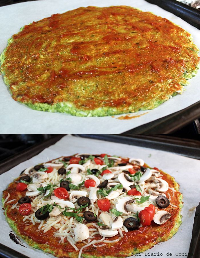 Pizza con base de zapallo italiano - Proceso
