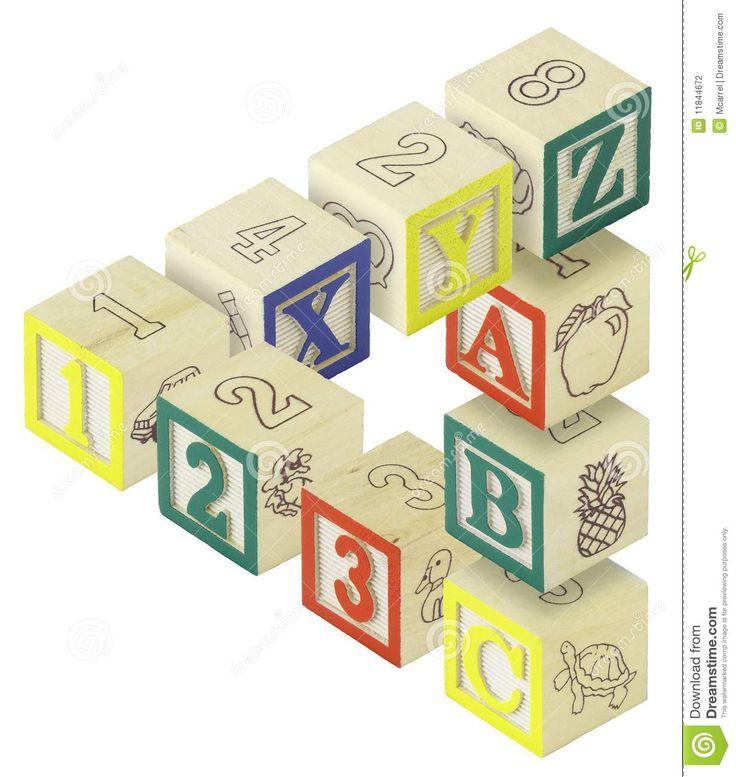123 De Optische Illusie Van De Blokken Van Het Alfabet ABC -