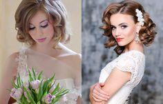 Модные свадебные прически на короткие волосы фото