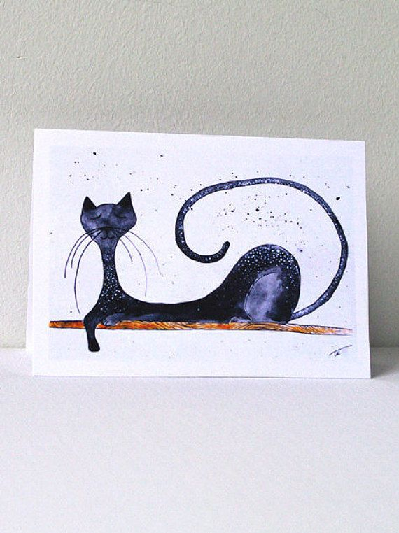 Funny birthday card for him - Cat birthday card - Cat card - Greeting cards with animals - Funny cat birthday card - Happy birthday card with cat