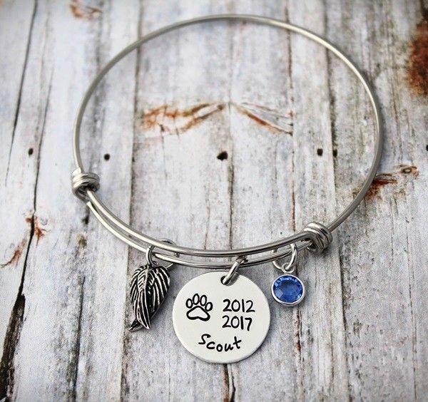 Pet Memorial Bangle Bracelet