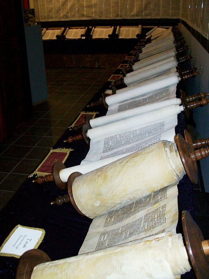 "Complete set of scrolls, constituting the entire Tanakh.The Tanakh (Hebrew: תַּנַ""ךְ‎, pronounced [taˈnaχ] or [təˈnax]; also Tenakh, Tenak, Tanach) is the canon of the Hebrew Bible. It is also known as the Masoretic Text or Miqra.  The name Tanakh is an acronym of the first Hebrew letter of each of the Masoretic Text's three traditional subdivisions: Torah / Source: Wikipedia.org"