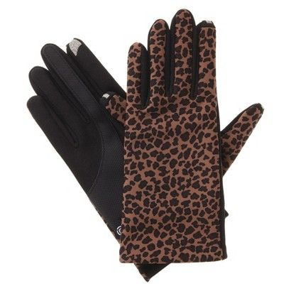 TARGET Impressions by Isotoner Leopard Smartouch Technology Gloves - Brown 702bd94a0b54
