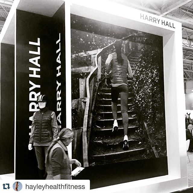 Our #facebook competition winner Cat who applied to be the new face of Harry Hall...looking great on our stand at #beta this week! #betainternational2016 #Repost @hayleyhealthfitness with @repostapp. ・・・ My mate and collegue Cat @catd8721  modelling for Harry Hall!! How amazing is that! Her butt is famous! Well done mate so proud - your body is rocking! xxxx #fitnesswomen #harryhall #fitfam
