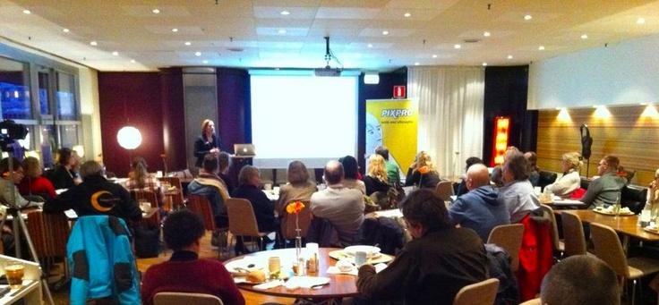 Pixpro Beakfast Seminar introducing Joomla! 2.5 in Stockholm.