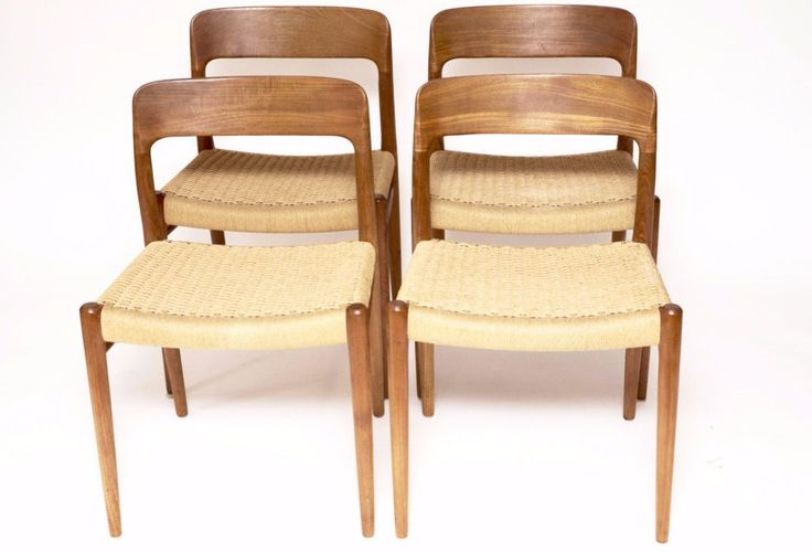 A set of four Niels O. Møller dining chairs, model 75