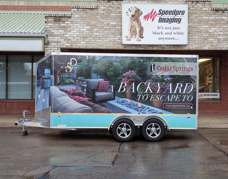 This full digital print wrap by Speedpro Imaging Hamilton for their client, Cedar Springs Landscape Group.