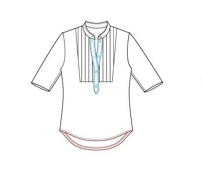 Download Pattern - Man's bib shirt