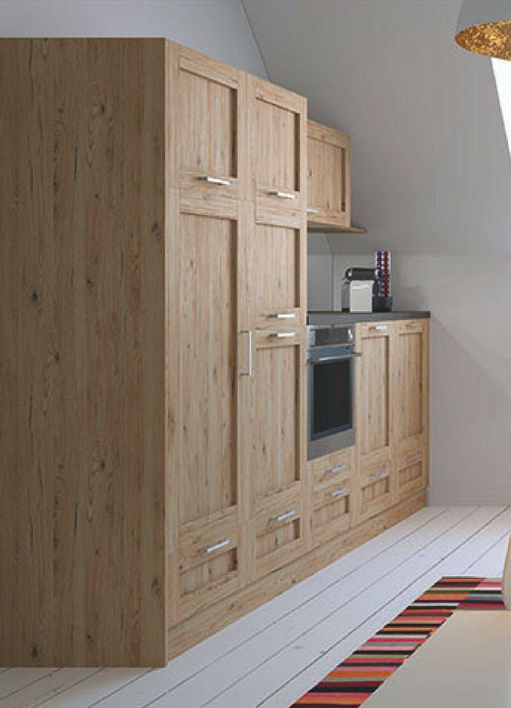 Küche, Holz, Holzküche, Fronten, Holzfronten, Küchenfronten, Holzoptik, kleine Küche, Küchenzeile, skandinavisch, skandinavische Küche, Design, Ikea Küche, Bild, Idee, Inspiration; Foto: Haka Küche