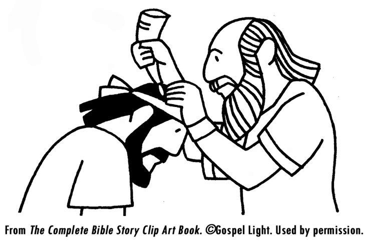 coloring sheet samuel anoints saul  bible crafts bible