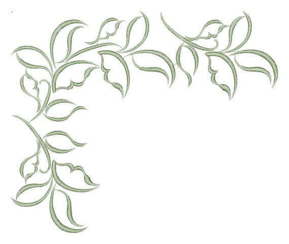 Border, corner, ornament, pattern - Machine Embroidery Design - Instant Download