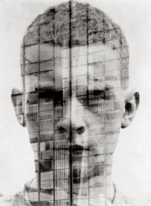 Hajo Rose Untitled self-portrait, Double-exposure, Dessau, 1930.