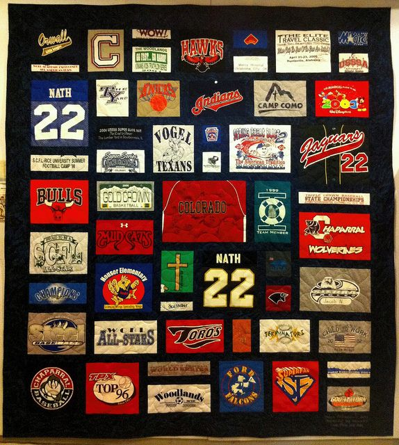 15 best Tshirt Blanket Ideas images on Pinterest | At home, Cards ... : custom tshirt quilts - Adamdwight.com