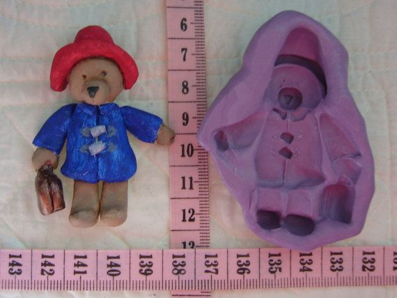 Paddington Bear, Food Grade Silicone Mold Cake Fondant Gum Paste Pastillage Chocolate Marzipan Candy or Resin Plaster Clay DIY By MoldCreationsNmore on Etsy .com