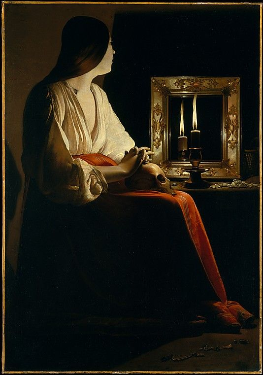 """The Penitent Magdalen""  --  Circa 1640  --  Georges de La Tour  --  French  --  Oil on canvas  --  Metropolitan Museum of Art"