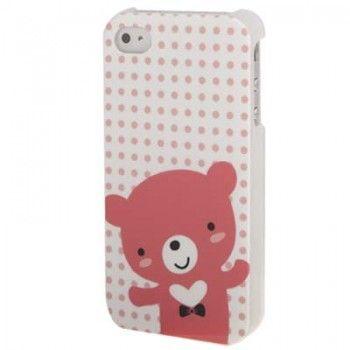 Bear Pattern Plastic  iPhone Case